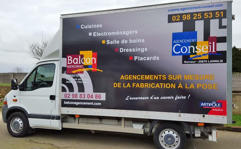Balcon Agencement Cuisine camion